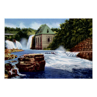 Ausable Chasm New York Rainbow and Horseshoe Falls Poster