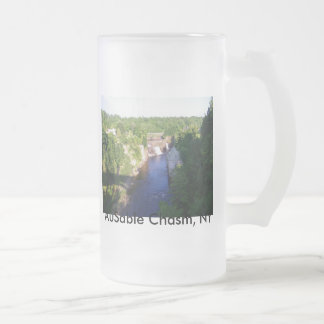 AuSable Chasm, NY Frosted Glass Beer Mug