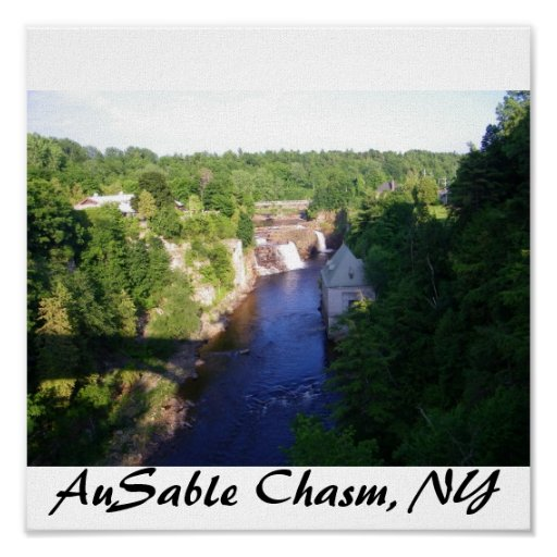 AuSable Chasm, NY Poster