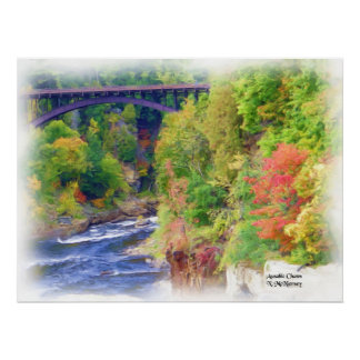 AuSable Chasm Painting Poster