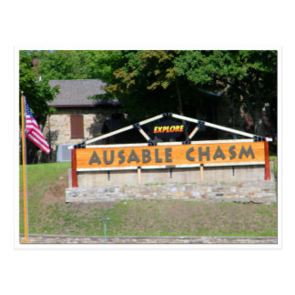 AuSable Chasm Post Card