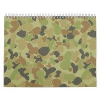 Auscam green camouflage calendar