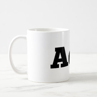 Ausencia taza de café del logotipo de la cera/de