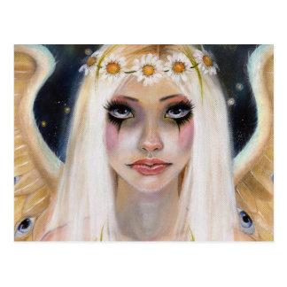 Ausente enérgico - ángel rubio con una corona de postal