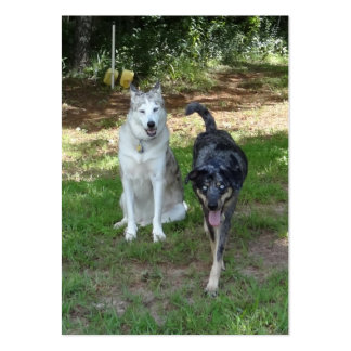 Ausky Dog and Catahoula Leopard Dog Friends Large Business Card