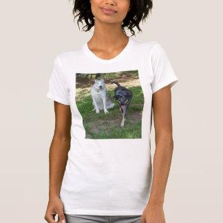 Ausky Dog and Catahoula Leopard Dog Friends T-Shirt