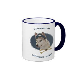 Ausky Dog Davy Bones Ringer Mug