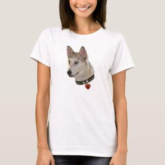 Ausky Dog Pawprint Heart T-Shirt