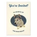 Ausky Dog Shoe Pirate 5x7 Paper Invitation Card
