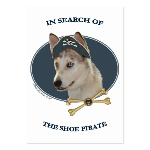 Ausky Dog Shoe Pirate Large Business Cards (Pack Of 100)