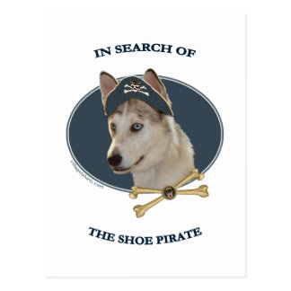 Ausky Dog Shoe Pirate Postcard