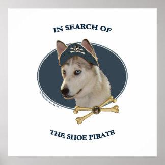 Ausky Dog Shoe Pirate Poster