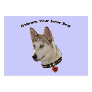 Ausky Inner Brat Dog Business Card Templates