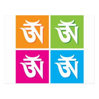 Auspicious Hindu OM / Aum Symbol Postcard