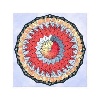 Auspicious Mandala Wall Art Canvas Print