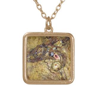 Auspicious - mixed media necklace