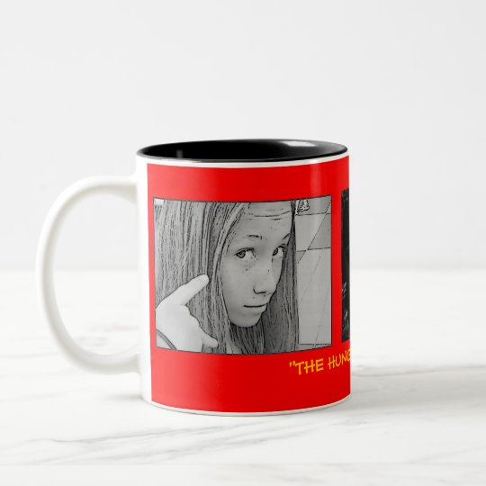 "AUSSIE1, EDDIE BW FACE, Hello clueless!, ""THE H... Two-Tone Coffee Mug"