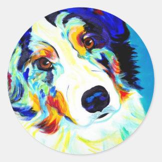 Aussie #2 classic round sticker