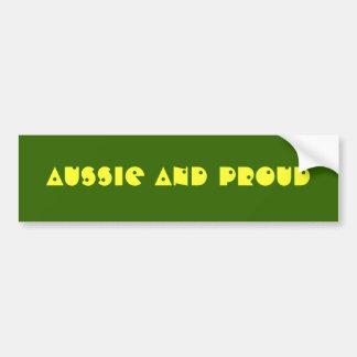 Aussie and Proud Bumper Sticker