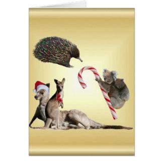 Aussie Animal Christmas Customisable Greeting Card