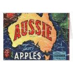 Aussie Apples- distressed Card