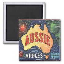 Aussie Apples- distressed Magnet