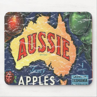 Aussie Apples- distressed Mouse Pad