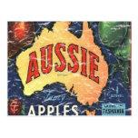 Aussie Apples- distressed Post Card