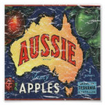 Aussie Apples- distressed Print