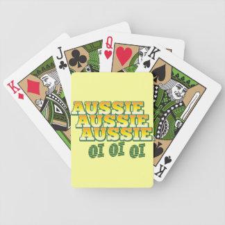 Aussie Aussie Aussie oi oi oi Bicycle Playing Cards