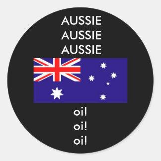 Aussie Aussie Aussie Sport Chant Classic Round Sticker