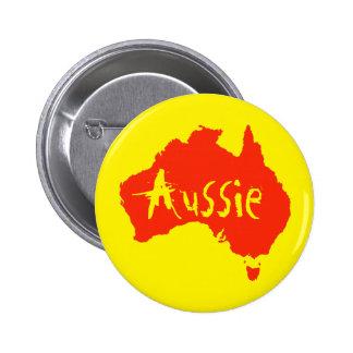 Aussie Australian Button Pin