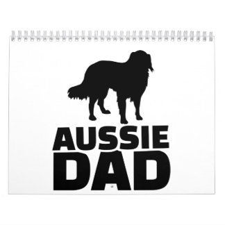 Aussie Australian shepherd Dad Calendar