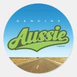 Aussie auténtico - pegatina (verde/interior)