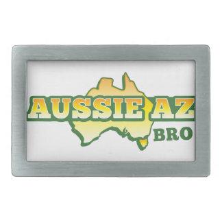 ¡Aussie AZ BRO! Hebilla Cinturón Rectangular