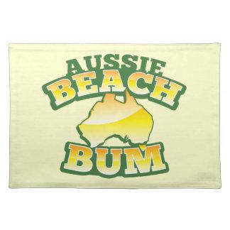 Aussie Beach Bum! with Australian map Cloth Placemat