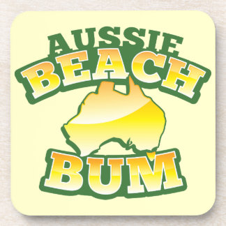 Aussie Beach Bum! with Australian map Coaster