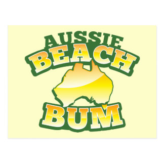 Aussie Beach Bum! with Australian map Postcard