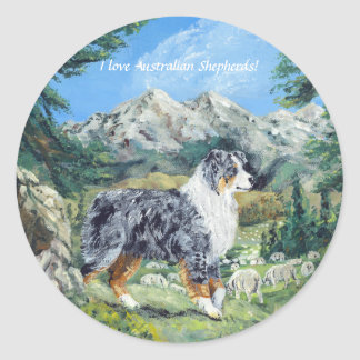 Aussie Beauty & Brains - The great Pacific NW. Classic Round Sticker