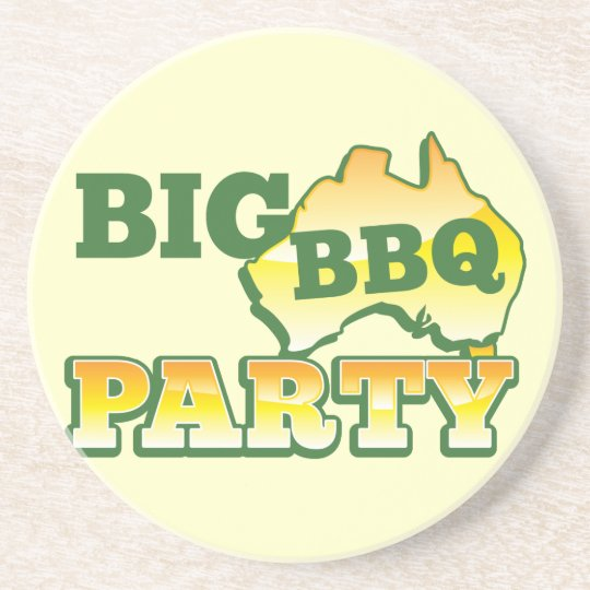 AUSSIE big BBQ party Coaster