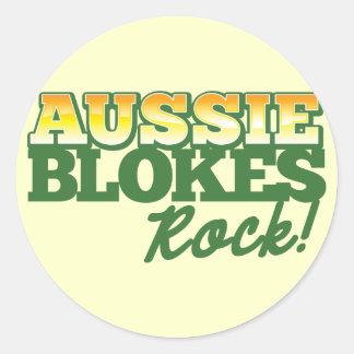 Aussie Blokes Rock! Classic Round Sticker