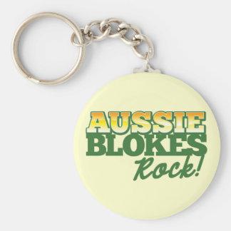 Aussie Blokes Rock! Keychain