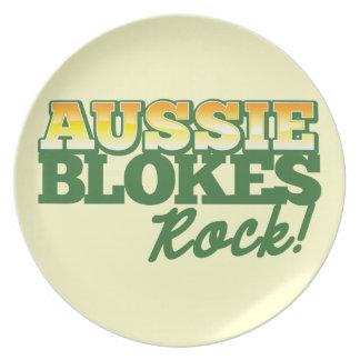Aussie Blokes Rock! Melamine Plate
