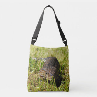 Aussie Blue Tongue Lizard Full Print Crossbody Bag