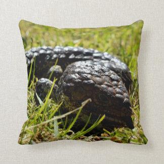 Aussie_Blue_Tongue_Lizard,_Lounge_Cushion. Throw Pillow