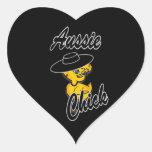 Aussie Chick #4 Heart Stickers