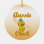 Aussie Chick Christmas Ornaments