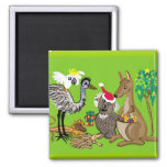 Aussie Christmas 2 Inch Square Magnet