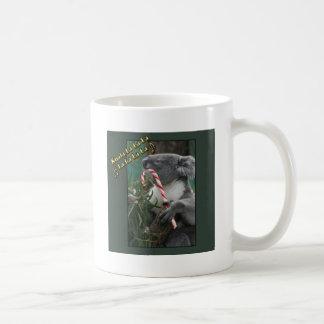 Aussie Christmas Koala with Candy Cane Coffee Mug
