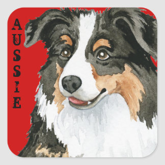 Aussie Color Block Square Sticker